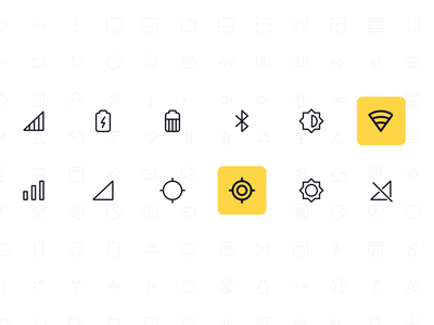 Line Icon Pack - Mobile icon pack icon figma mobile design ui icon free icon icon free freebie icons line icons light signal battery contrast wi-fi device mobile