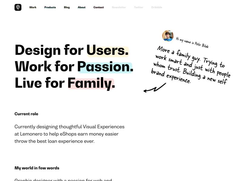 petrbilek.com - About - Improvements webflow arrows arrow design logo avatar figma about us about page typography ui webdesign website web portfolio about me about