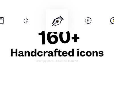 Grumpyicons - 160+ Handcrafted icons icon set icon figma iconographic icon pack icons design creative icons developers icons device icons arrow icons premium icons premium design iconography icons pack iconset icons