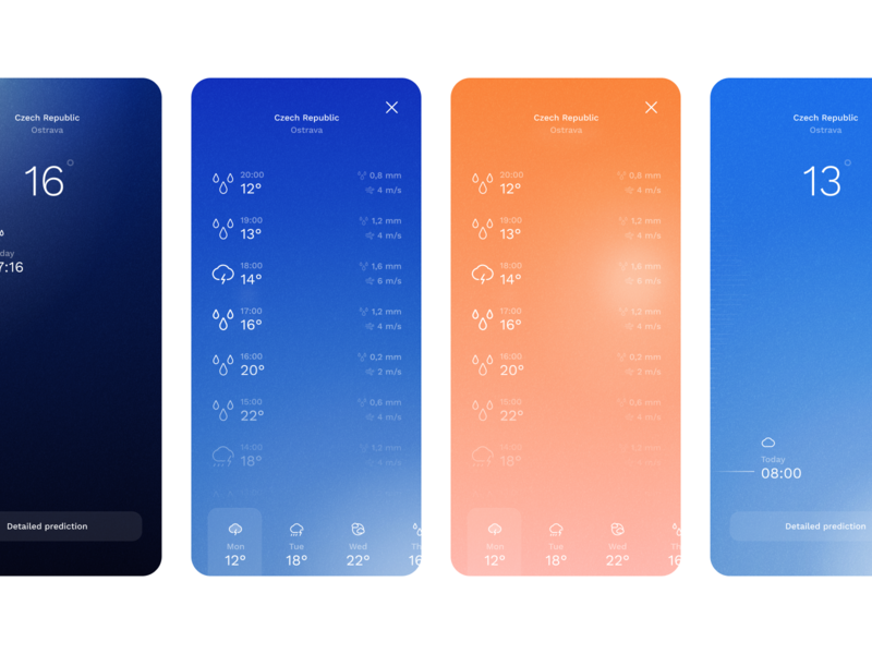 Weather app - Concept (uplabs challenge) ui icons iconography icon night sunset sun dailychallenge dailyui challenge uplabs freebie figma weather forecast weather icon weather app weather