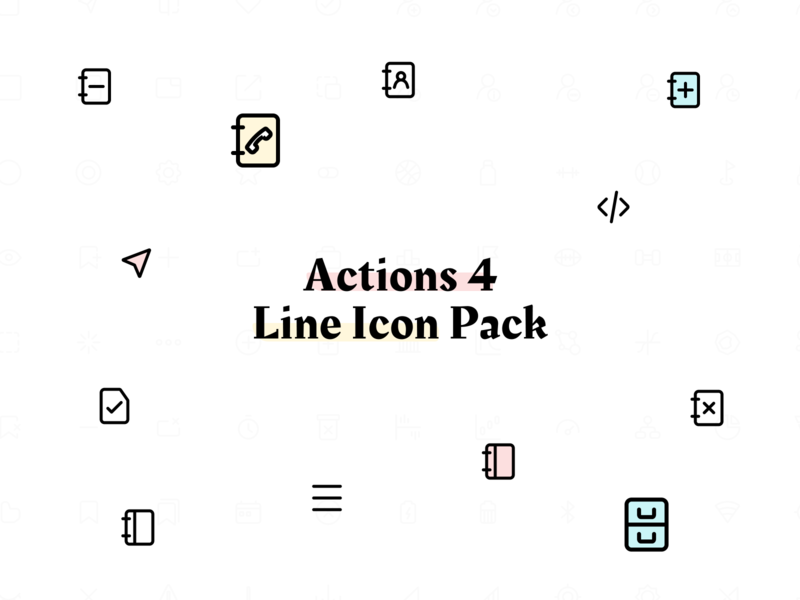Line Icon Pack - Actions 4 figma icon pack icons pack iconset freebie icon set iconography icon line icons icons