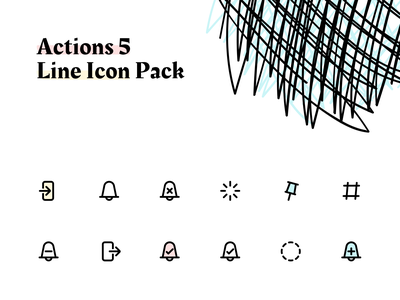 Line icon pack - Actions 5 vector icons pack iconset freebie icon set icon pack iconography icon line icons icons