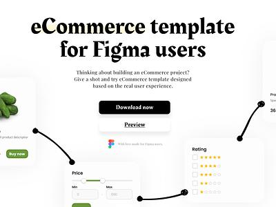 Figma - eCommerce template design system select input buttons figma design ecommerce iconset uikit ui freebie figmadesign icons figma