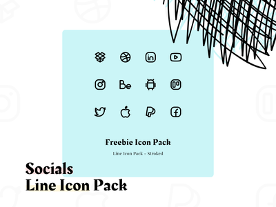 Line icon pack - Socials xd figma sketch trello icon android icon twitter icon paypal icon dropbox icon dribbble icon facebook icon icons for ui outlined icons stroke icons ui icons adobexd icons sketch icons figma icons line icons icons social media