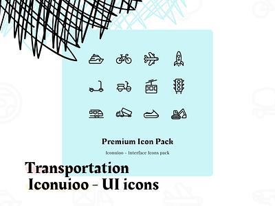 Iconuioo - Transportation icon pack premium icons svg icons icon design svg illustrator editable icons stroke icons illustration icons pack iconset icon set icon pack icon iconography ui icons line icons