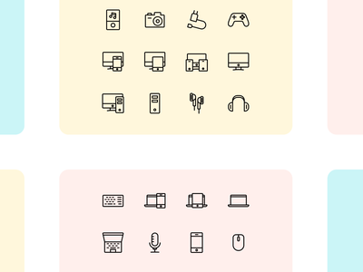 Iconuioo - Devices icon pack mouse microphone mobile icons laptop headphones laptop icon desktop icon icons pack iconset icon iconography line art line icon pack icon set ui icons flat icons stroke icons line icons icons