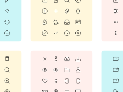 Iconuioo - User Interface icon pack close heart user folder eye edit new tab notification search icons icons pack iconset icon set icon pack icon iconography stroke icons line icons ui icons user interface