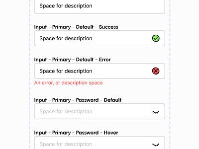 Figma - Variants interface components ui components variants ux example ux interface design icons figmadesign error check form ui input figma