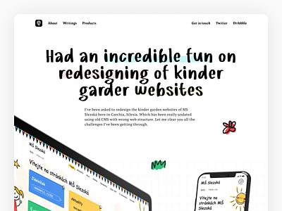 Case study: Kinder Garden v.1 website builder cms website concept websites web figma design concept website design web design web ui design ui website case study illustrations webflow