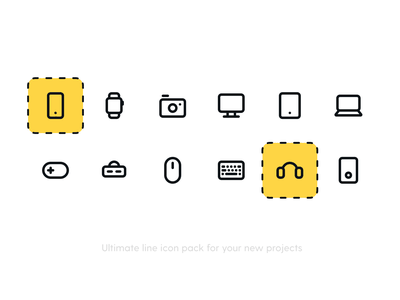 Devices Icon Pack mobile icons icon device device icons line icons simple icons minimal icons iconography iconset icon pack icons