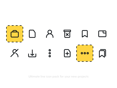 Actions 3 Icon Pack ui user interface iconography graphic icon design icon figma line icons drag more add tag work delete trash paper user iconography icons pack iconset icons