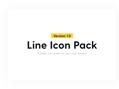 Line icon Pack 1.0 is out freebie iconography illustration vector iconset icon pack design line icons figma icons