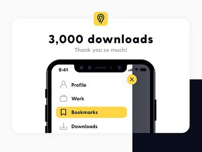3K downloads! Thank you! iconography freebie ui icon pack icon set icon line icons news proud thankyou happy newyear milestone