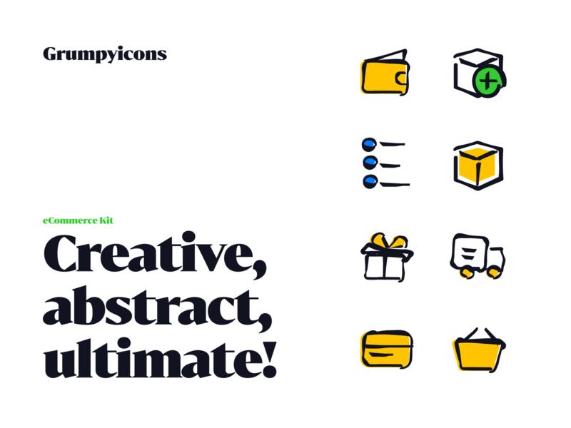 Grumpyicons - eCommerce Kit