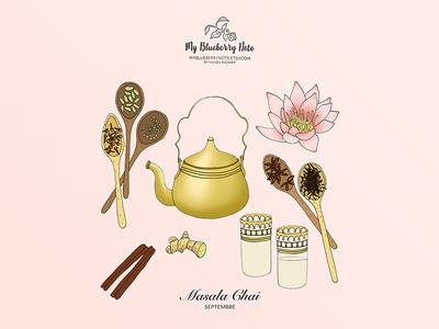 Masala chai illustration calendar
