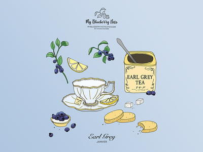 Earl Grey tea illustration