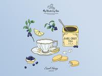 Earl Grey tea illustration