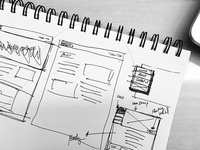 Landing page sketch