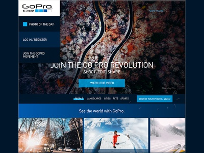 Gopro-redesign webapps apps digital inspiration popups desktop tech minimalist userinterface ui layout redesign