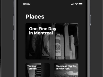 Places appdesign apps mobile photo inspiration uxui ui userinterface framerx