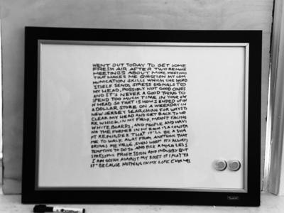 white board writing