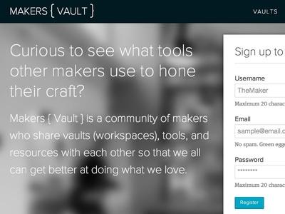 Makers { Vault } Alpha home