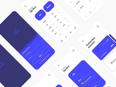 Money Exchange App Concept finance mobile design ux ui money bank app