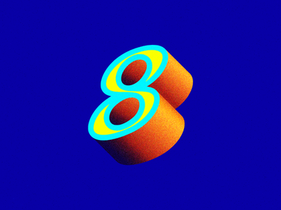 Happy New Year! orange blue greeting typography 3d year new happy geometric 2018