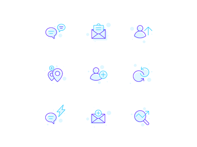 Icons set→Illustrations ux icon app lineicons line art vector purple blue icons pack icons icons design iconset iconography icon app ui design
