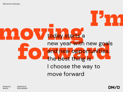 Moving Forward 2020 trend creative goals graphic graphicdesign flat logo minimal branding typography design