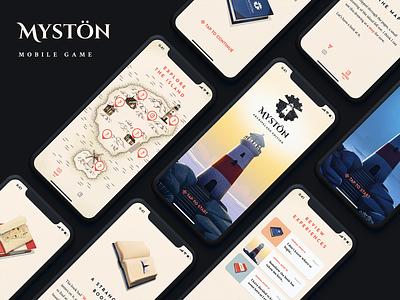 Mystön - Mobile Game interface ux map island design illustration app ui game mobile