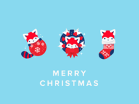 Red Panda Christmas - Free desktop wallpapers