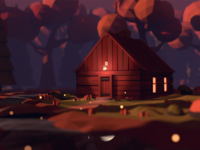 Cabin in the woods - Low poly