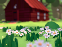 Low poly - Summer Cabin