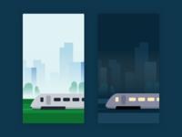 Train Day & Night