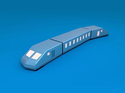 A chubby little train low poly model lowpoly blender 3d train