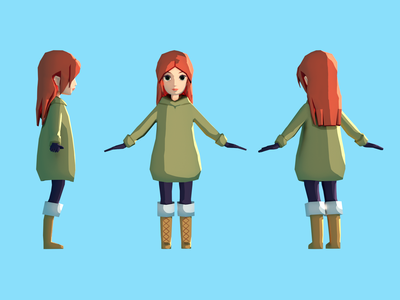 Low Poly Character 3d art 3d model blender modelling character lowpoly low poly