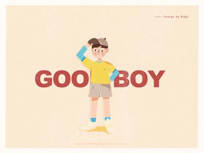 【Procreate】Little boy illustration-01
