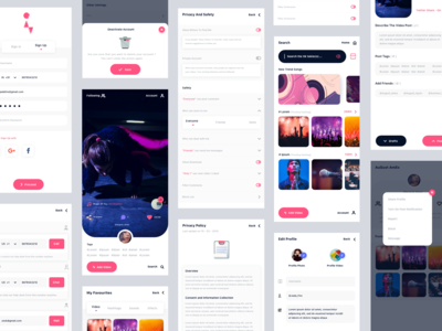 Tik Tok Clone designs, themes, templates and downloadable