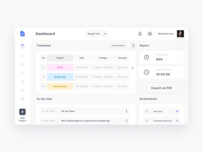 Design Report Dashboard UI