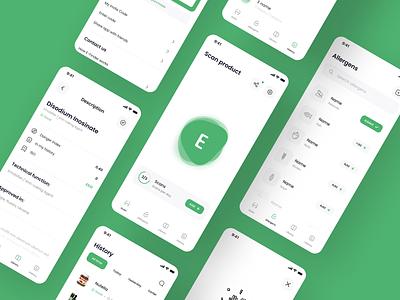 E Finder - iOS App light additives design mobile app navigation app design food app ios app app