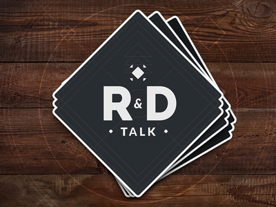 R&D Talk stickermule sticker logo podcast rd talk