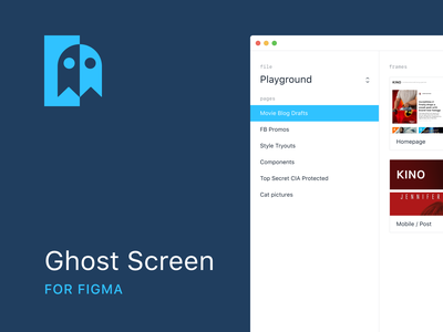 Ghost Screen for Figma minimalistic flat ghost figmadesign figma