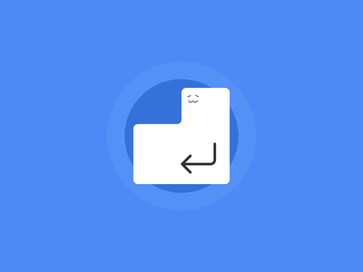 Cuteness Returns minimal cute enter return key illustration
