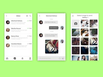 Messaging portion of an app ui design inkscape inspiration messaging