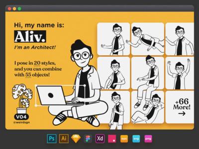 Character Set V04 Aliv