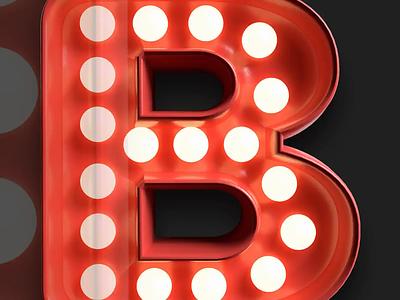 3D Lightbulb Alphabet Kit download freebies photoshop signage neon sign bulb sign lightbulb 3d render alphabet 36daysoftype07 36daysoftype