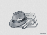 Duplicate detective icon large by weirdsgn