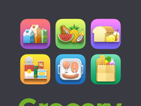 Grocery icons preview by weirdsgn