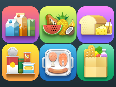 Free Grocery Icons Set